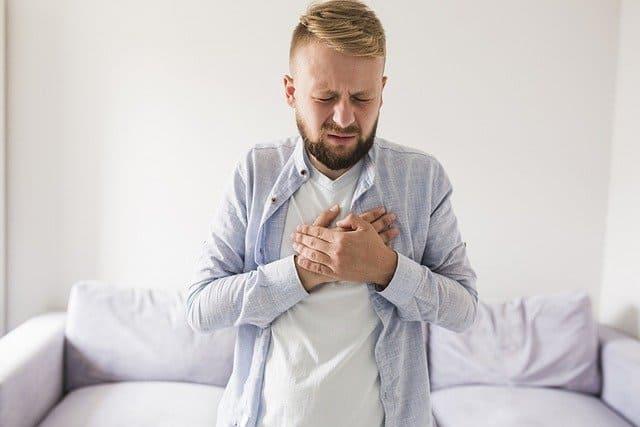 man with acid reflux